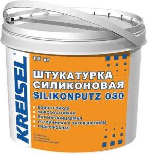 фото штукатурки силиконовой KREISEL 25 кг барашек/короед (база А)