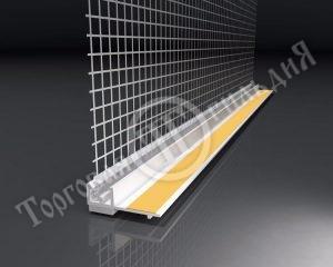 Фото профиль ПВХ оконный с сеткой 2,4м EJOT (Германия)