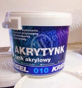 Фото штукатурки акриловой KREISEL 25 кг (база D) барашек/короед