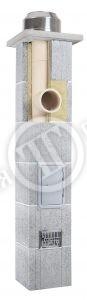 Фото Дымоходная система Skorsten Plus, одноходовая PK без вентиляции , 4 м.п. d=160